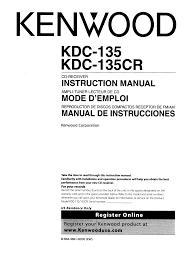 download free pdf for kenwood kdc 135 car receiver manual