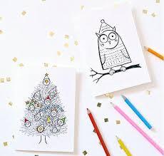 printable christmas cards to make free printable christmas cards to color allfreechristmascrafts com