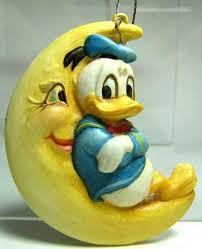 donald duck on moon ornament from our collection