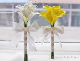 yellow calla cheap calla flowers bridal wedding bouquets bridesmaid garden