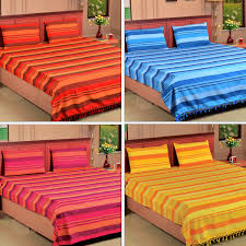 Buy Cheap Double Bed Sheets Online India Buy Set Of 4 Handmade Kerala Bedsheets Online At Best Price In
