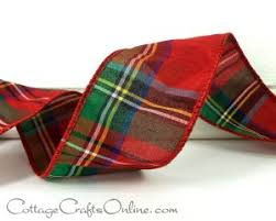 plaid ribbon christmas plaid ribbon