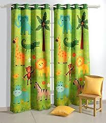 Kids Room Blackout Curtains Amazon Com Safari Fun Blackout Door Curtains For Kids Rooms Set