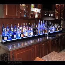 led lighted bar shelves 2 tier led display shelf led lighted bar shelf bottle display shelf