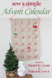 sew a simple advent calendar for make it and it