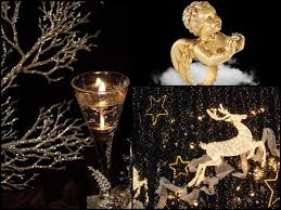 chic christmas decorating ideas black and golden colors