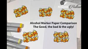 alcohol ink pen skill builder paper comparisons for copic nuvo