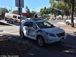 google self driving car operator hospitalised after crash in