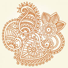 indian henna ornament vector free
