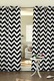 and white velvet chevron printed curtains