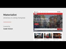 materialist material directory html template themeforest