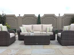 luxury garden patio lawn wicker rattan furniture sofa set