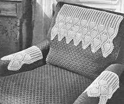 Crochet Armchair Covers Pineapple Chair Set Crochet Pattern Crafts Crocheting