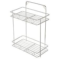 amazon com modern stainless steel bathroom u0026 kitchen 2 shelf