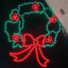 of large 44 led wreath lighted display