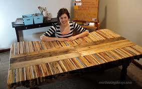 How To Make A Table Out Of Pallets Table Made From Pallets Overthinking Design