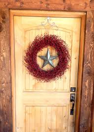 Primitive Home Decors Texas Star Wreath Winter Wreath Rustic Christmas Wreath Farmhouse
