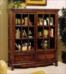 Vintage Bookcase With Glass Doors Wood Bookcases With Doors Bookcases With Door Impressive Popular