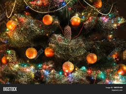 Christmas Light Balls For Trees by Christmas Magic Beautiful Decorated Xmas Tree Closeup Shining