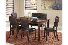 Meredy Dining Room Table And Chairs With Bench Set Of  Ashley - Ashley furniture dining table bench