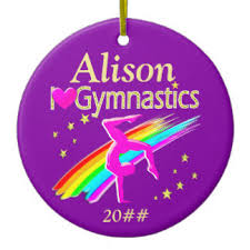 gymnastics ornaments keepsake ornaments zazzle