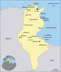 map of tunisia with cities tunisia map map of tunisia