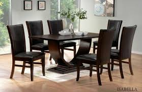 espresso dining room set 7 pc collection
