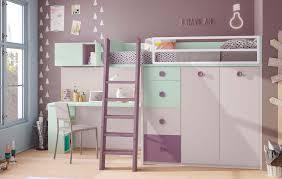 lit mezzanine avec bureau intégré lit mezzanine enfant compact coloré avec bureau glicerio so nuit