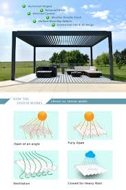 Aluminum Pergola Manufacturers by China Aluminum Motorized Waterproof Pergola Roof Garden Louvered