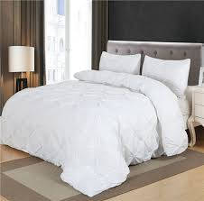 Bedding Sets Luxury Luxury Duvet Cover Set White Black Pinch Pleat 2 3pcs