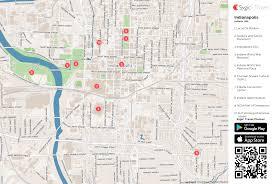 Maps Indianapolis Indianapolis Printable Tourist Map Sygic Travel