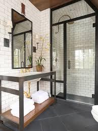 vintage home masculine bathroom shower bathroom and steel