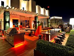 furniture engaging rooftop deck lighting ideas home design roof