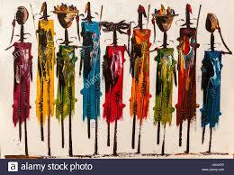 masai mara kenya 03 january the picture painted colors maasai