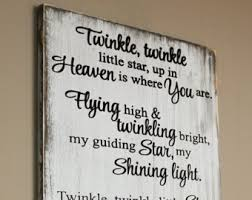 infant loss gift twinkle twinkle up in heaven is where you are wood