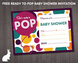 free ready to pop baby shower invitation free party invitations