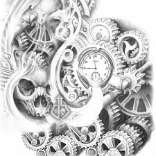 broken pocket watch tattoo designs