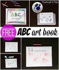 free printable abc book playdough to plato