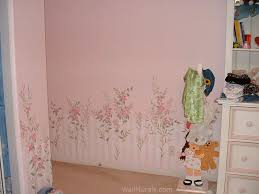 Wallpaper Borders For Girls Bedroom Girls Room Wall Murals Examples Of Wall Murals For Girls