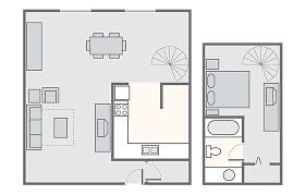 one bedroom cabin loft floor plans