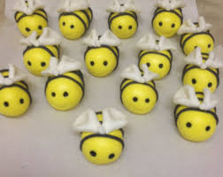 bumble bee cake topper fondant bumble bee etsy