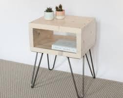 Small Bedside Table Sashi Bedside Table Teak Finish Handmade Side Table Made