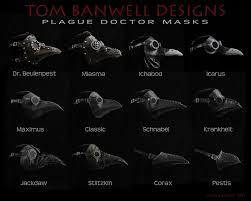 plague masks tom banwell designs