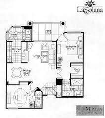 Condominium Plans Sun City Grand La Solana Mirada Condo Condominium Floor Plan Model