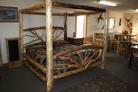 Cabin Bed Frame Log Cabin Style Bedroom Log Bed Frames Yesrail
