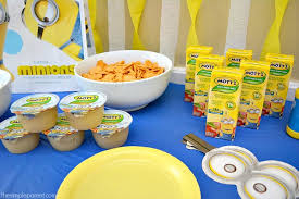 celebrate easy minions party ideas