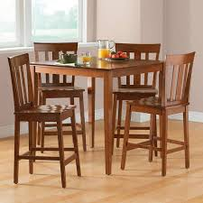 High Top Dining Room Table Sets Mainstays 5 Piece Counter Height Dining Set Cherry Walmart Com