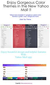 yahoo mail android gorgeous color themes in the new yahoo mail for android as well as