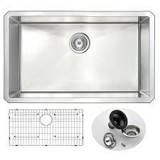 kraus undermount stainless steel 30 in single bowl kitchen sink