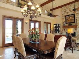 Rustic Dining Room With Exposed Beam  Ceiling Fan In Georgetown - Dining room ceiling fans
